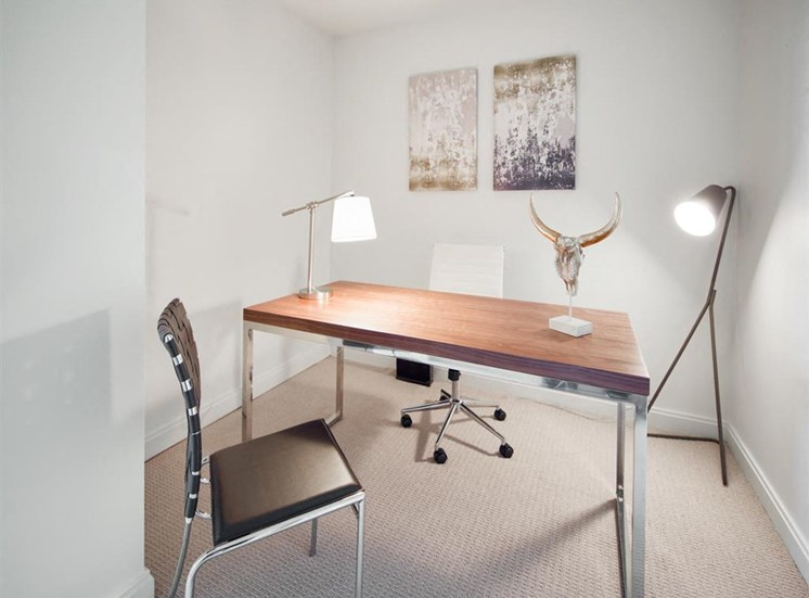 interior modern desk area for apartment unit