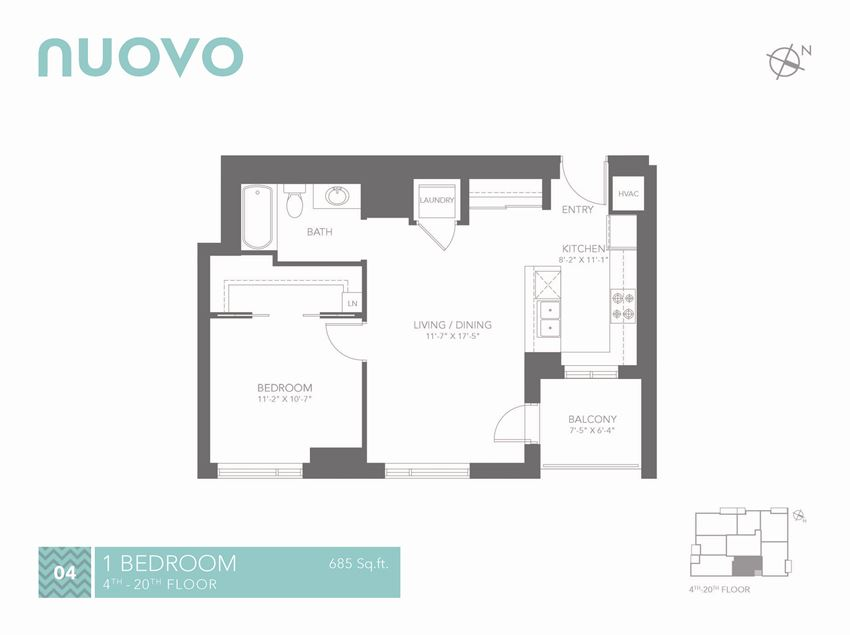 Nuovo Apartments in Ottawa 1 bedroom, 1 bathroom
