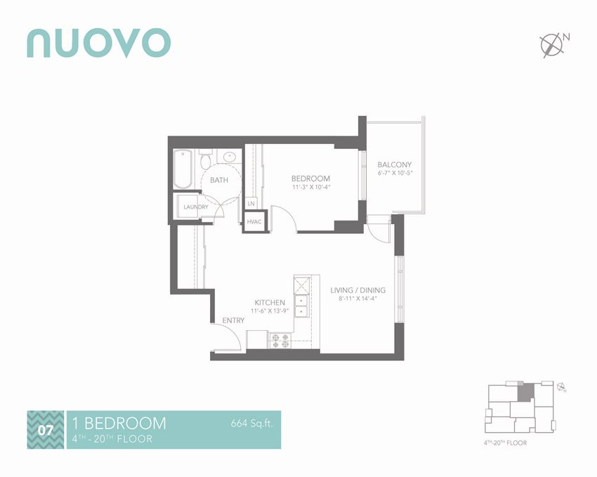 New Nuovo Apartments in Ottawa 1 Bedroom, 1 Bathroom