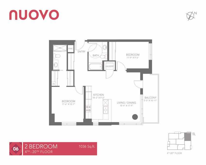 New 2 bedroom, 2 bathroom Nuovo Apartments in Ottawa