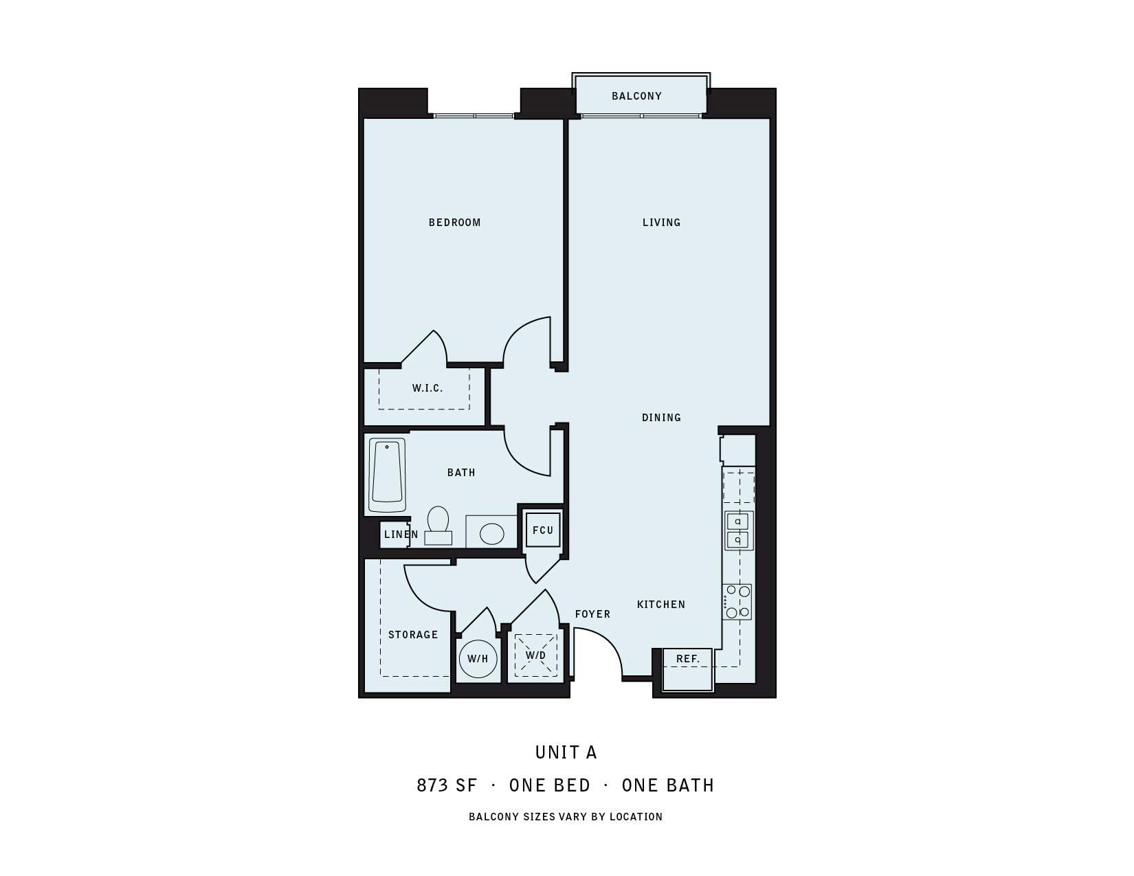The Reserve at Seabridge_Oxnard CA_Floor Plan A_One Bedroom One Bathroom