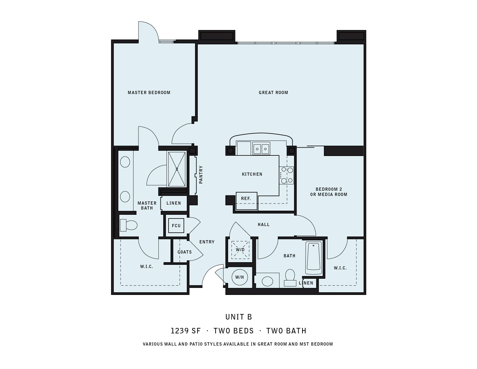 The Reserve at Seabridge_Oxnard CA_Floor Plan B_Two Bedroom Two Bathroom