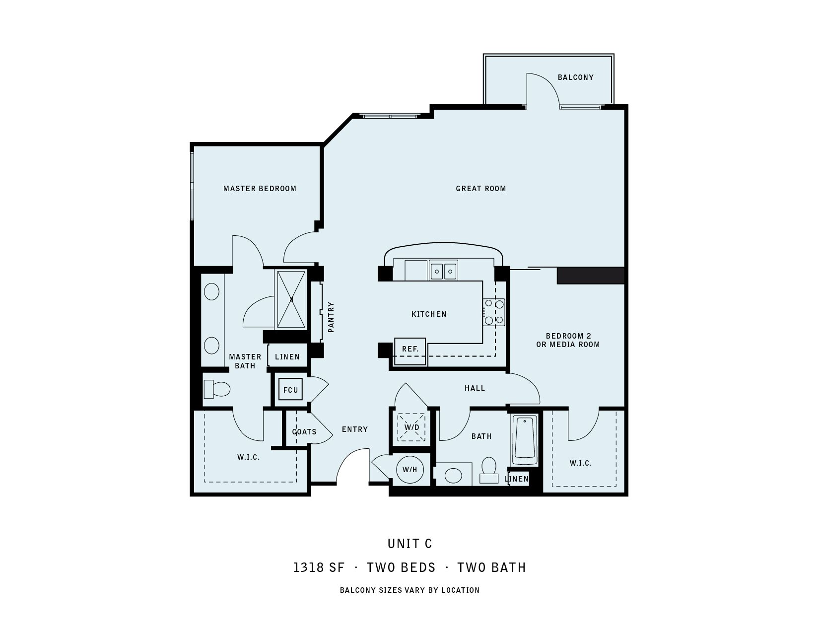 The Reserve at Seabridge_Oxnard CA_Floor Plan C_Two Bedroom Two Bathroom
