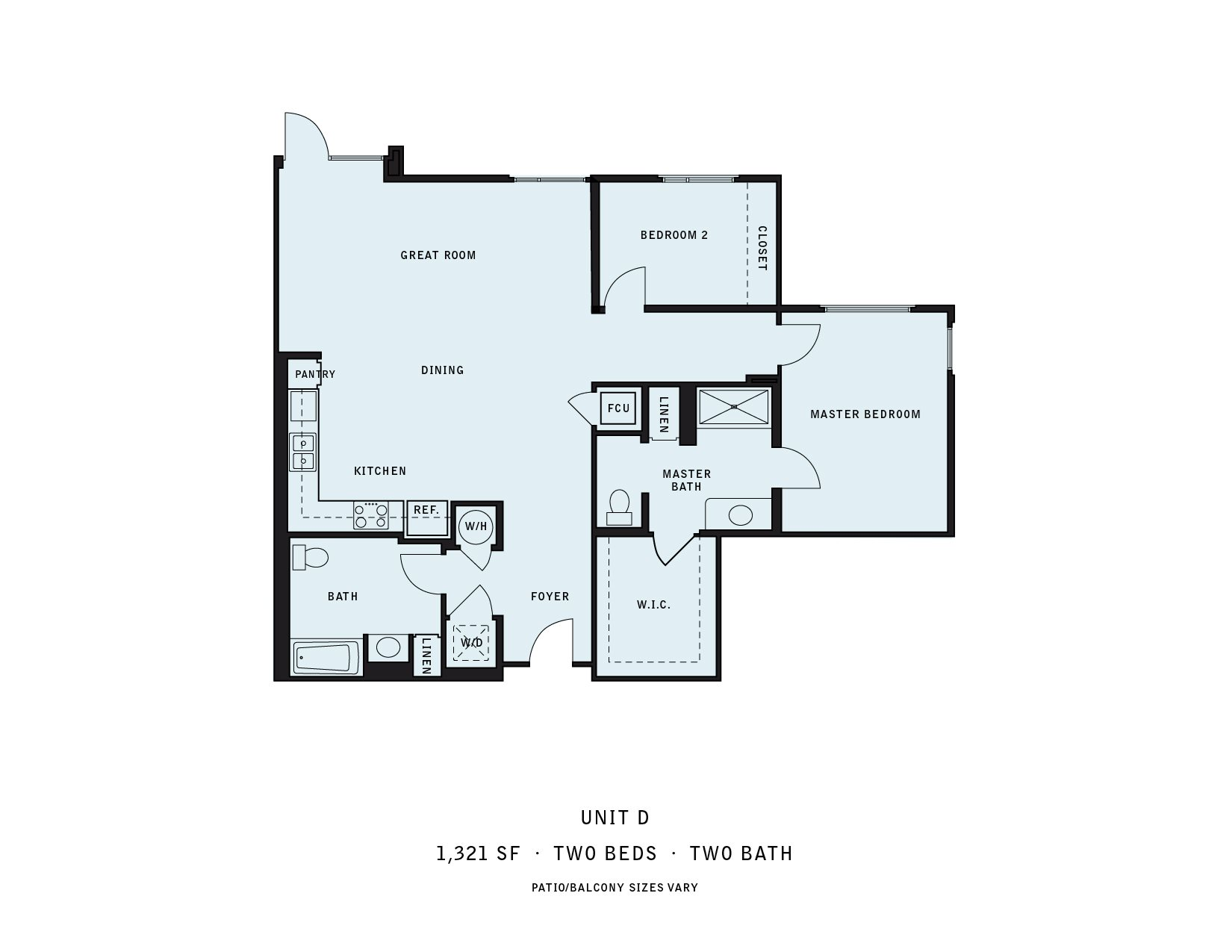 The Reserve at Seabridge_Oxnard CA_Floor Plan D_Two Bedroom Two Bathroom
