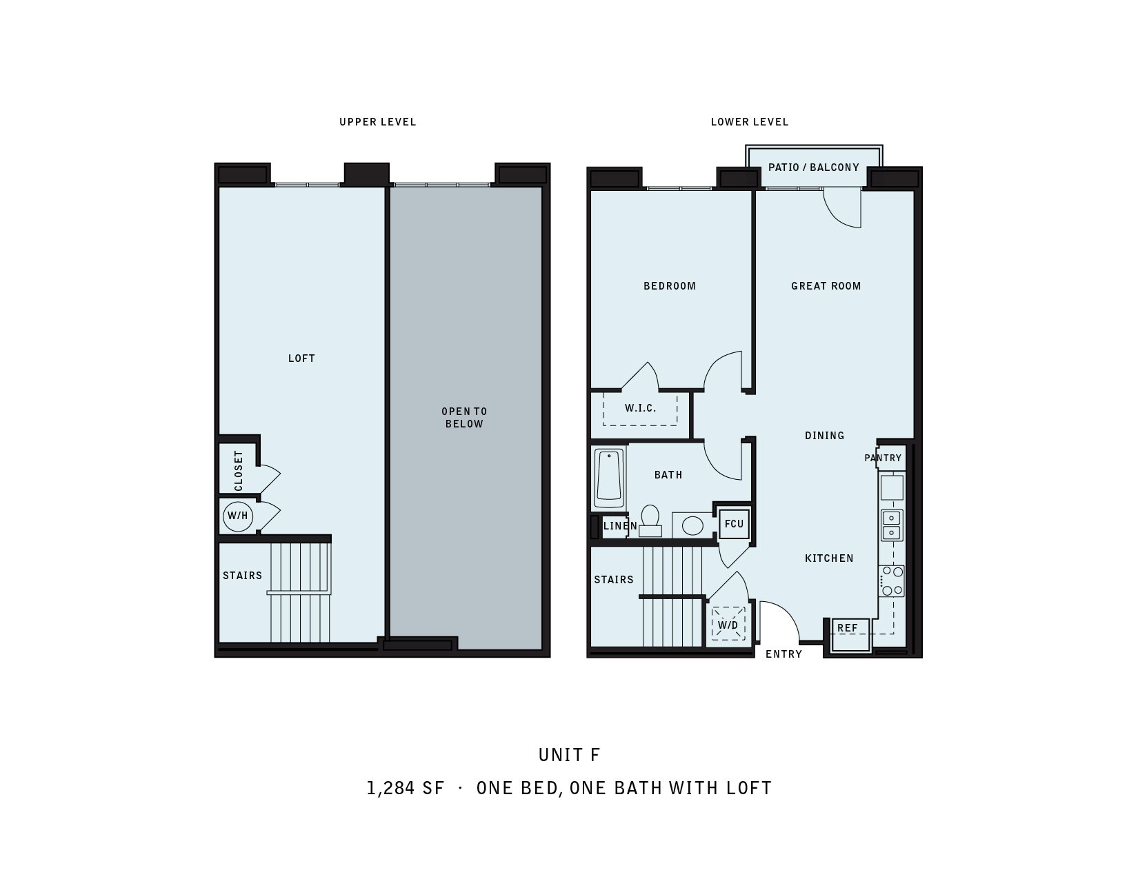 The Reserve at Seabridge_Oxnard CA_Floor Plan F_One Bedroom One Bathroom