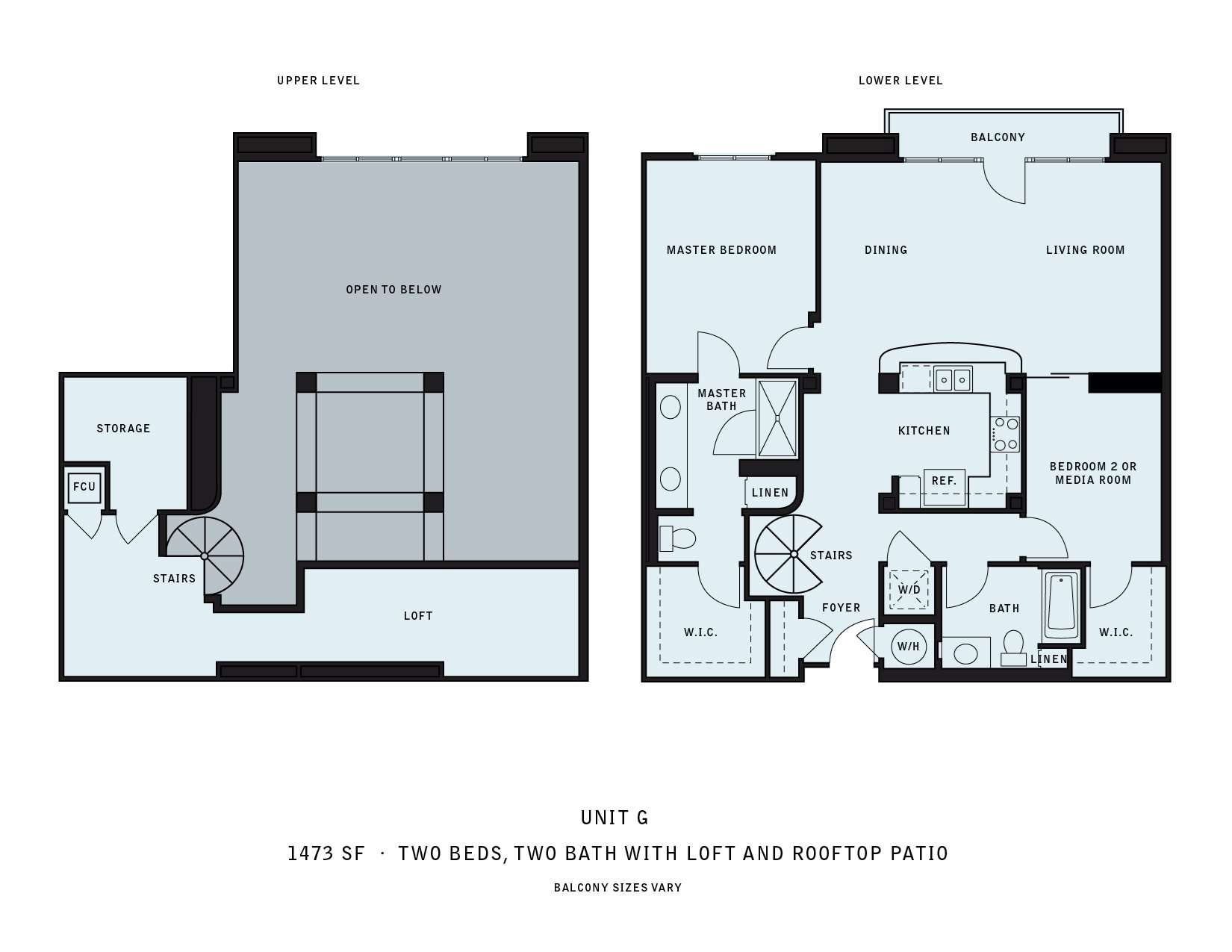 The Reserve at Seabridge_Oxnard CA_Floor Plan G_Two Bedroom Two Bathroom