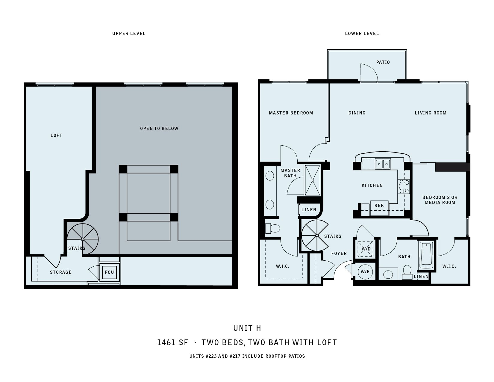 The Reserve at Seabridge_Oxnard CA_Floor Plan H_Two Bedroom Two Bathroom