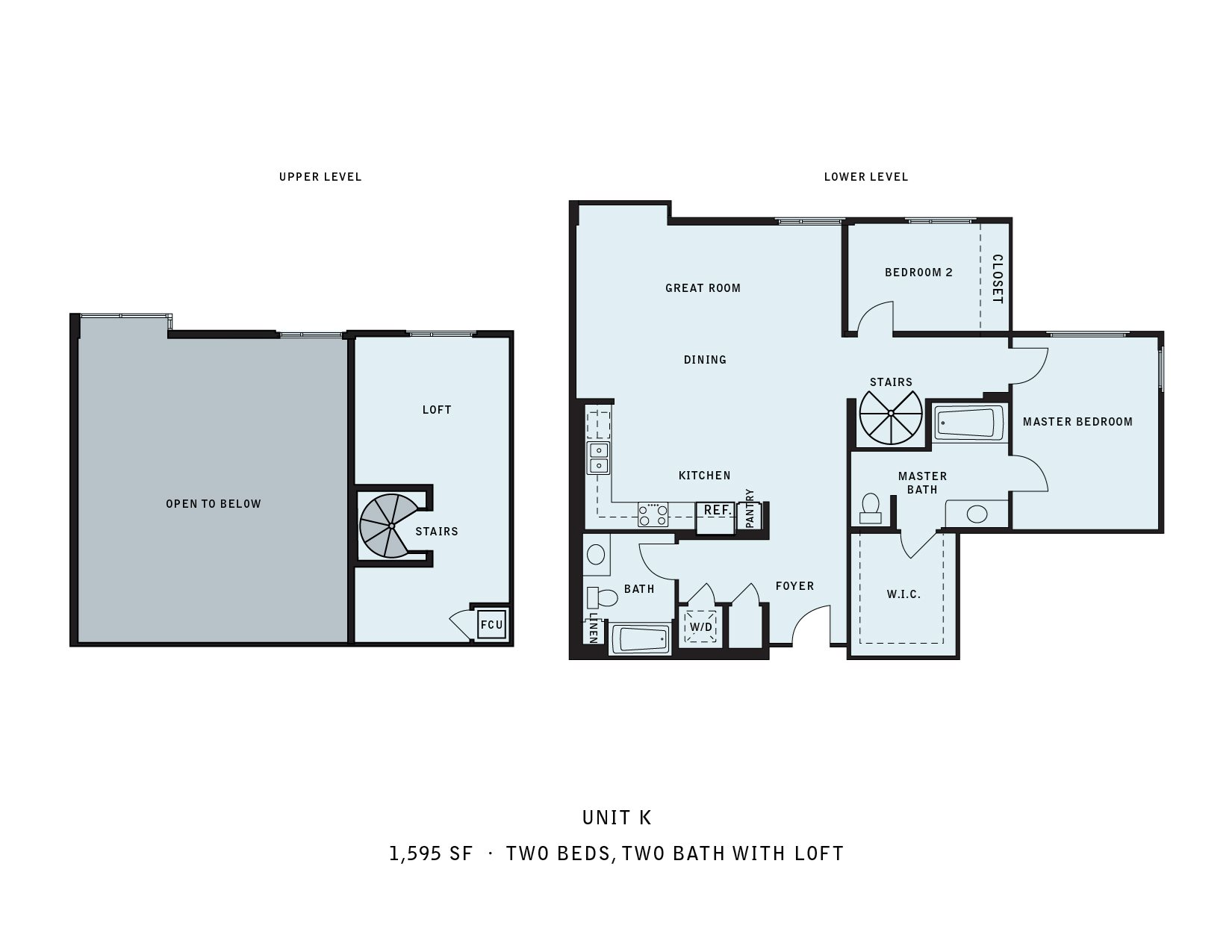 The Reserve at Seabridge_Oxnard CA_Floor Plan K_Two Bedroom Two Bathroom