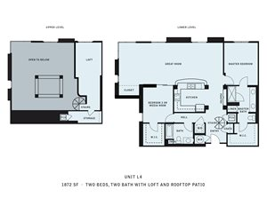 The Reserve at Seabridge_Oxnard CA_Floor Plan L4_Two Bedroom Two Bathroom