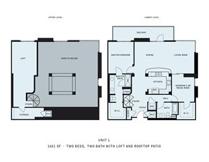 The Reserve at Seabridge_Oxnard CA_Floor Plan L_Two Bedroom Two Bathroom
