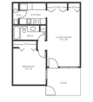 One Bedroom Patio