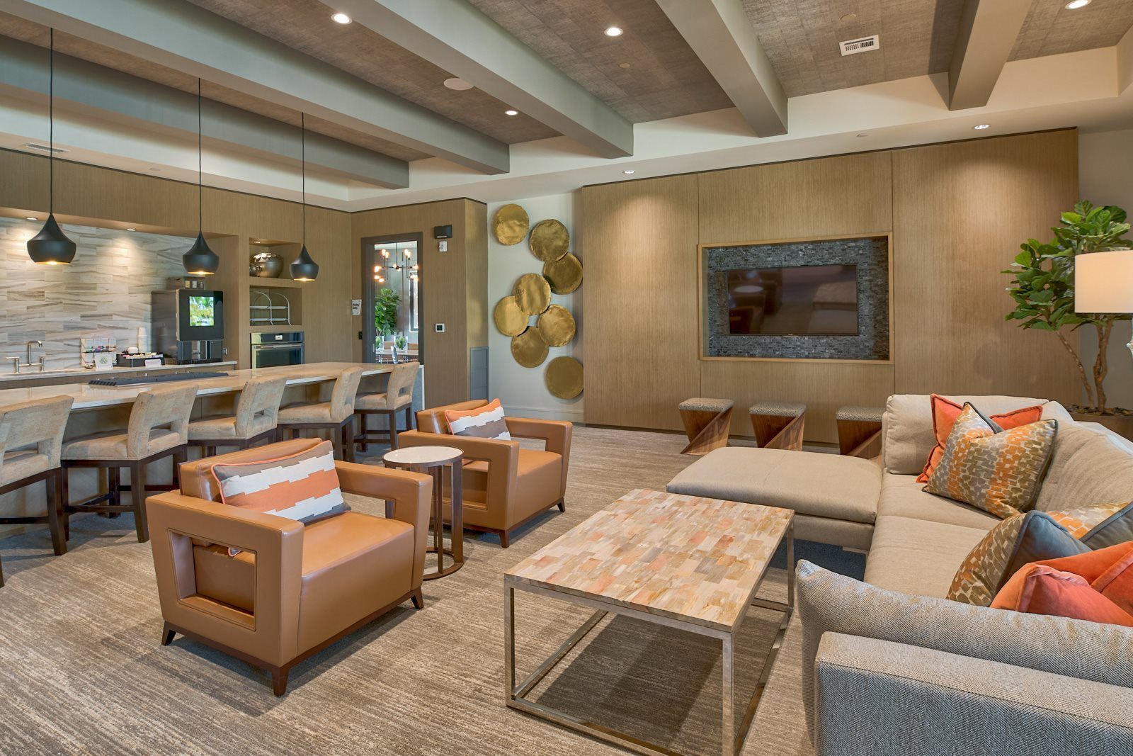 Large Resident Lounge at Windsor Lantana Hills, Texas, 78735
