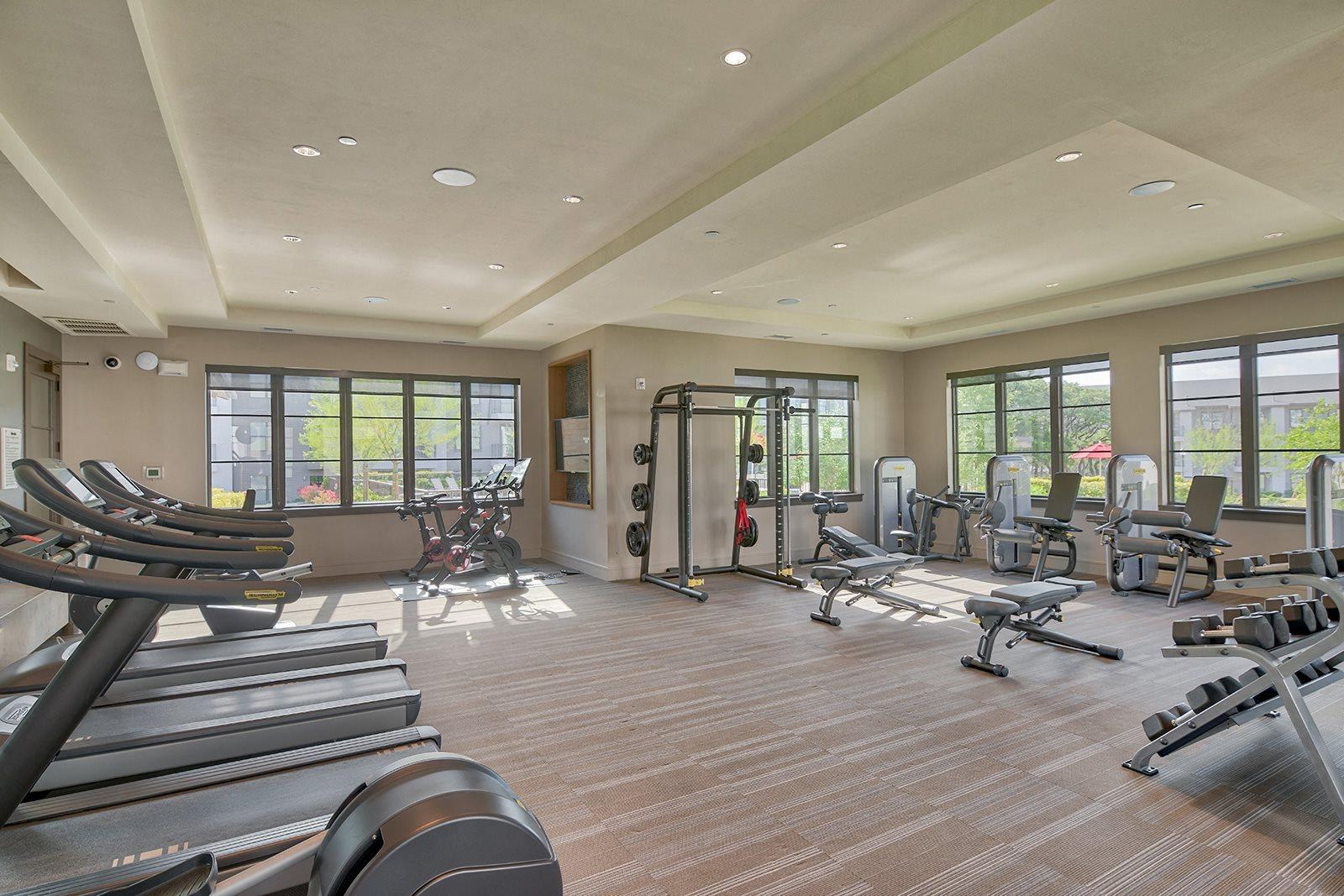 24 hour Technogym Fitness Center at Windsor Lantana Hills, 6601 Rialto Blvd, TX