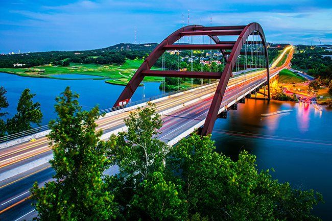 Scenic View of the Pennybacker Bridge at Windsor Republic Place, Austin, TX