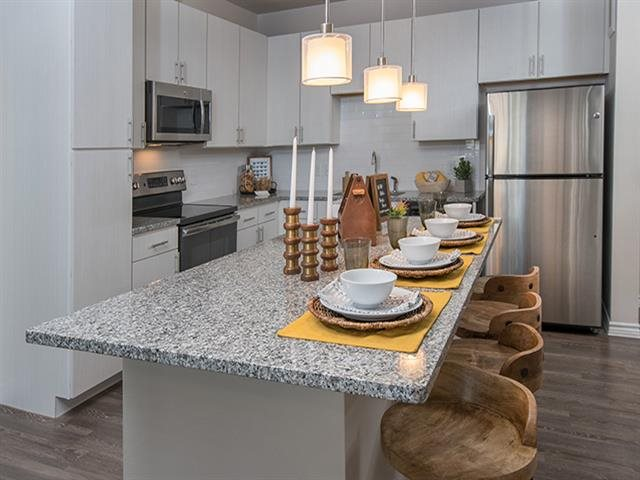 Granite Kitchen Islands and Countertops at Windsor Republic Place, Austin, 78727
