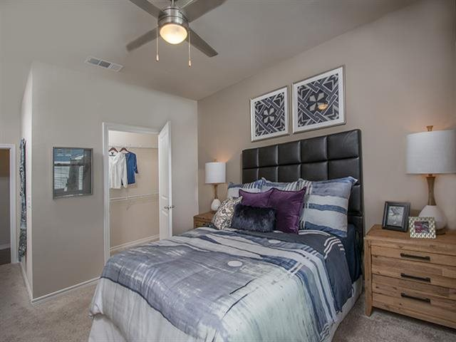 Classic Bedroom with Ceiling Fan at Windsor Republic Place, Austin, 78727