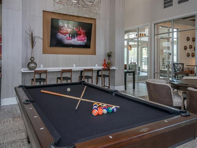 Game Room with Billiards at Windsor Republic Place, Austin