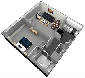 ALDEN - HIGH RISE - 1 BEDROOM (UNIT 07,09)