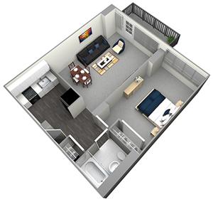 DOUGLAS - HIGH RISE - 1 BEDROOM (UNIT 11)