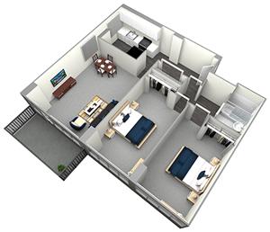 ESSEX - MID RISE - 2 BEDROOM (UNIT 01, 09)