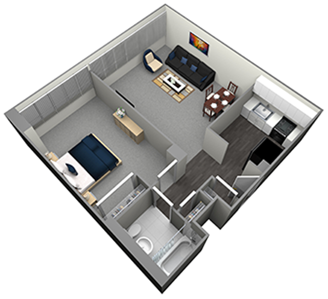 EVERGREEN - MID RISE - 1 BEDROOM (UNIT 07)