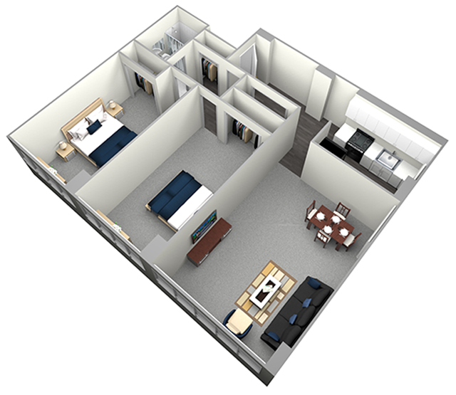 KING - MID RISE - 2 BEDROOM (UNIT 00,08)