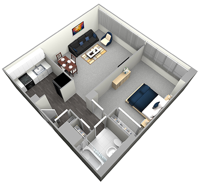 LASALLE - MID RISE - 1 BEDROOM (UNIT 03)