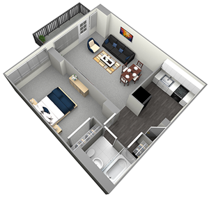 MICHIGAN HIGH RISE - 1 BEDROOM (UNIT 05)
