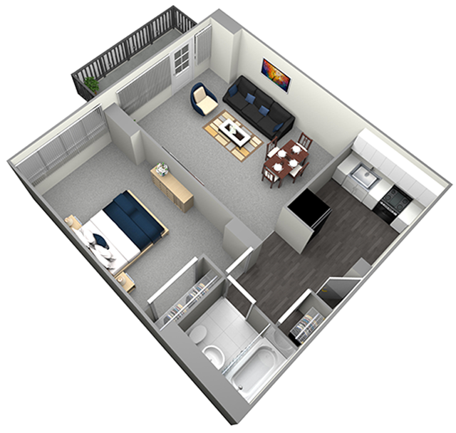 MICHIGAN HIGH RISE - 1 BEDROOM (UNIT 05)