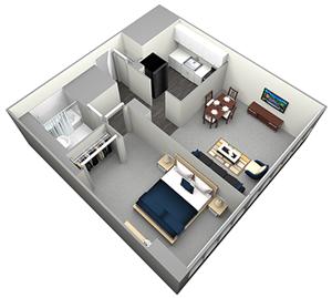 OGILVIE - HIGHRISE - 1 BEDROOM (UNIT 12)