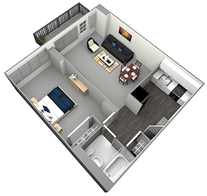 STATE - HIGH RISE - 1 BEDROOM (UNIT 10)