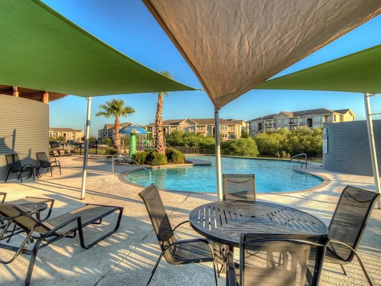 Poolside Covered Dining Area at The Dorel Laredo, Laredo