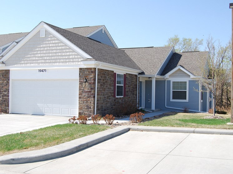 Private Garages In Townhome at Lynbrook Apartment Homes and Townhomes, Elkhorn, Nebraska