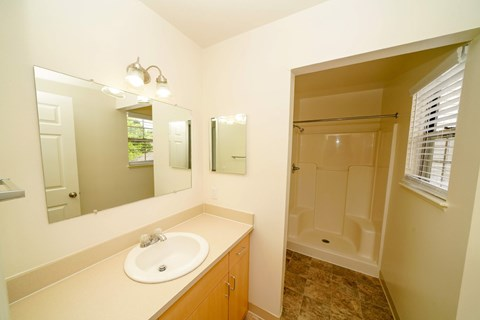 Separate Showers In Bathroom at Foxwood and The Hermitage, Portage, Michigan