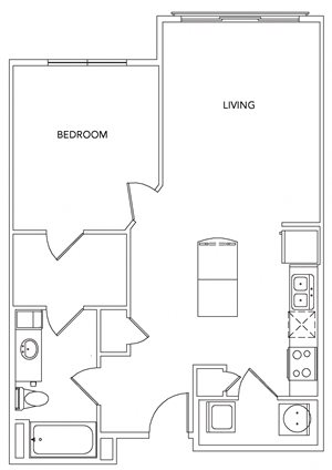 A1+ Floorplan - 716 sq. ft.