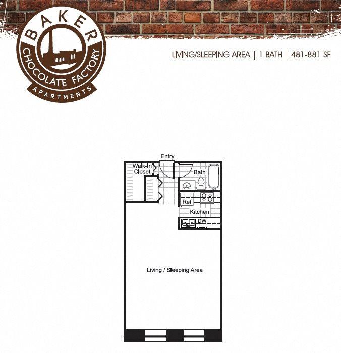 Studio Floor Plan 1