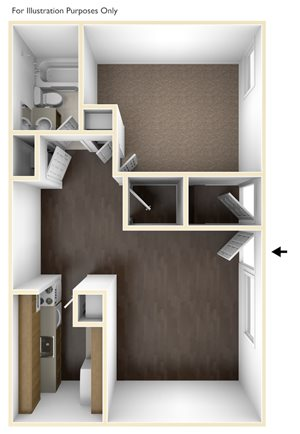 One Bedroom Floor Plan Chatham West Apartments