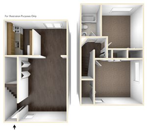 Two Bedroom Apartment Floor Plan Chatham West Apartments