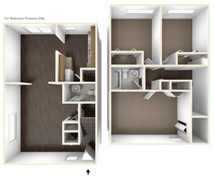 Three Bedroom Apartment Floor Plan Chatham West Apartments