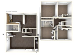 Four Bedroom Apartment Floor Plan Chatham West Apartments