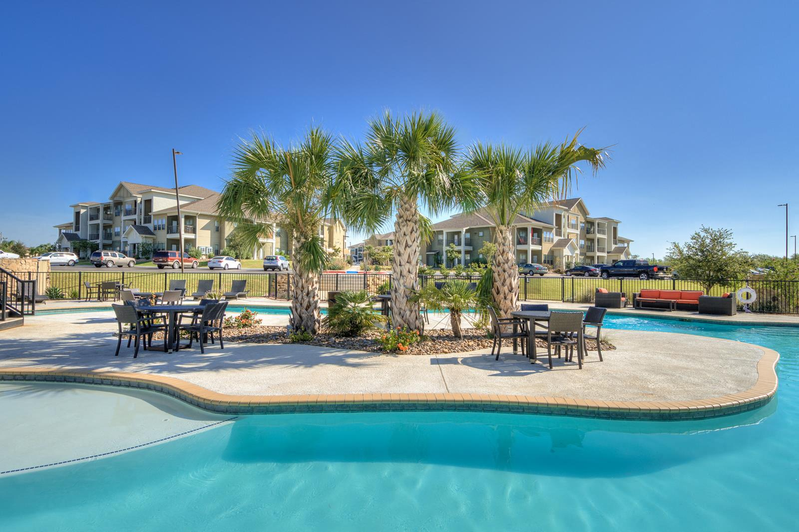 Superior Relaxing Lazy River Style Pool At La Contessa Luxury Apartments,  Laredo,Texas