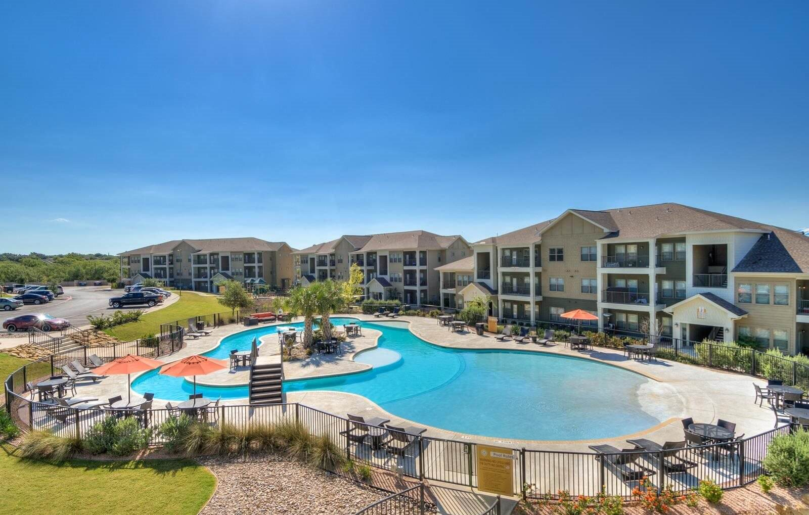 Sparkling Swimming Pool at La Contessa Luxury Apartments, Laredo, 78045