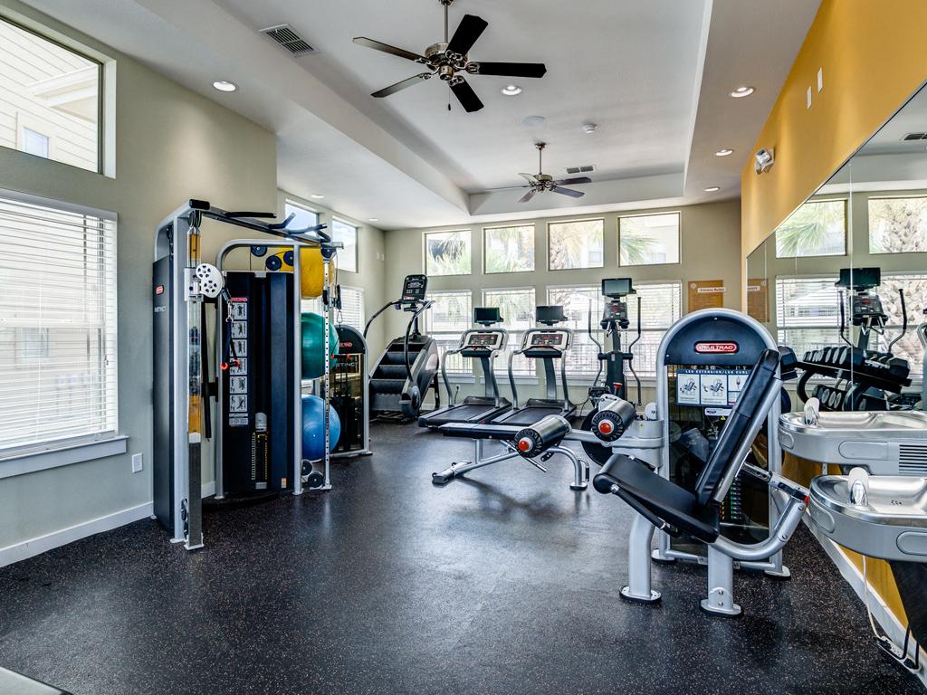 Fitness Center with State of the Art Precor Equipment at La Contessa Luxury Apartments, Laredo, TX