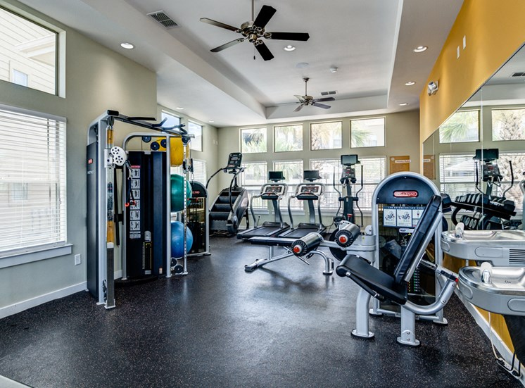 Fitness Center with State of the Art Precor Equipment at La Contessa Luxury Apartments, Laredo, TX