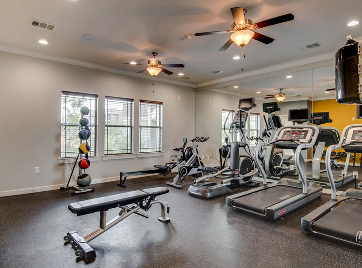 Professional-Grade Fitness Center at La Contessa Luxury Apartments, Laredo,Texas