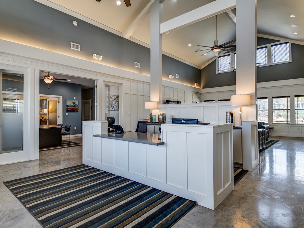 Newly Renovated Leasing Center at La Contessa Luxury Apartments, Texas, 78045