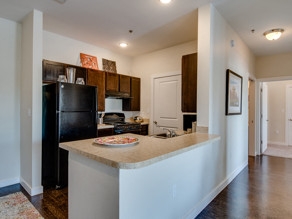 Rich Shaker Style Cabinetry at La Contessa Luxury Apartments, Laredo