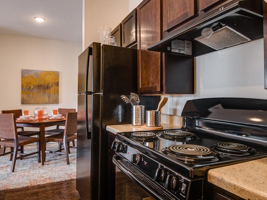 Over-the-Range Microwaves at La Contessa Luxury Apartments, Texas, 78045