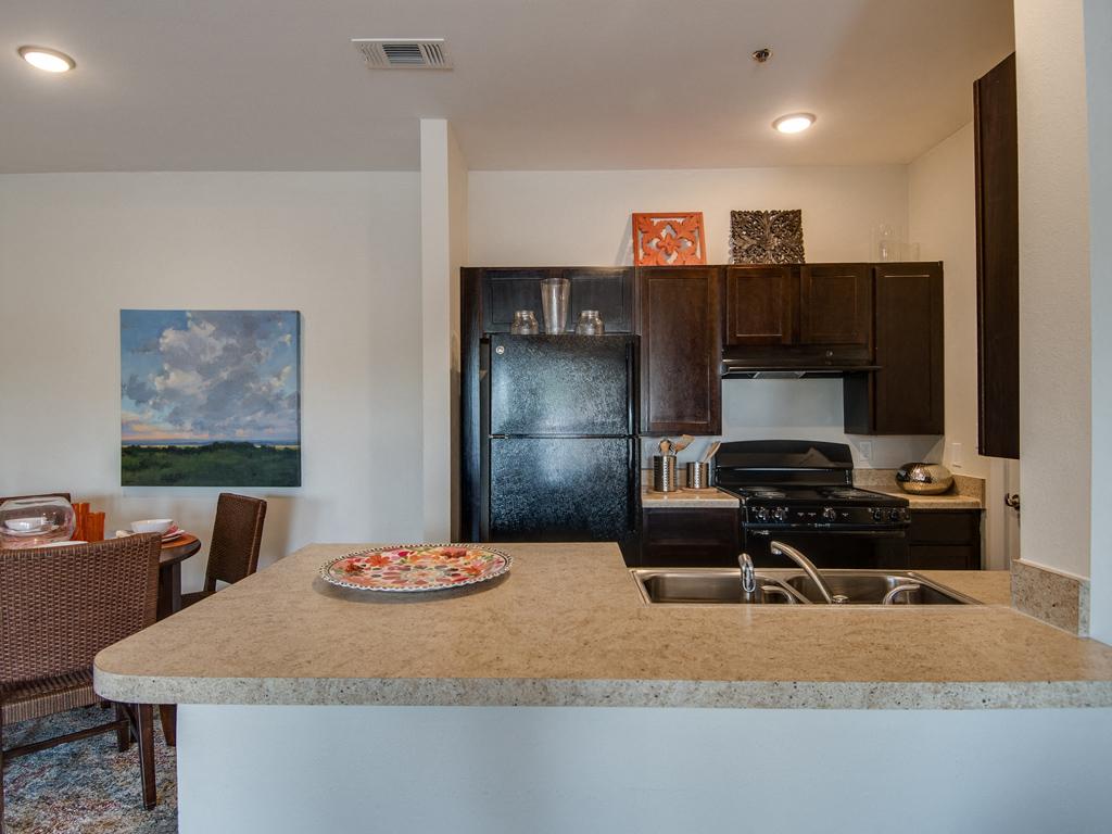 Designer Granite Countertops at La Contessa Luxury Apartments, Laredo, TX 78045