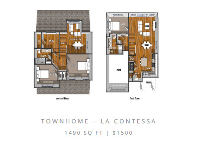 Floor Plan at La Contessa Luxury Apartments, Laredo, TX 78045